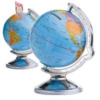 Savings box in globe shape ---