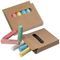 Crayons in box brown