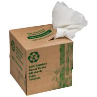 Tissuebox with 60 three-ply tissues brown