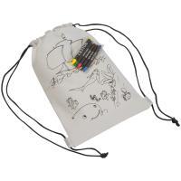 Kids drawstring bag white