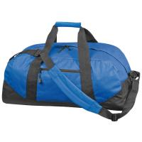 Polyester sports or travel bag blue