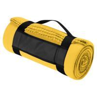 Fleece picnic and sofa blanket yellow