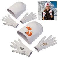 Beanie & glove white