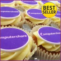 Logo Branded Frosted Cupcakes - Edible Logo