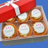 Frosted Cupcakes Gift Box - Edible Logo