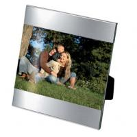 "Mini Stripe Photoframe - Chrome Plated - 3"" X 2"" (80mm X 50mm)"