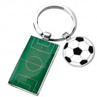 Football Pitch and Ball Keyring