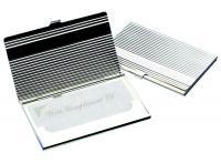 Business Card Holder 'Linear' - Matt Finish