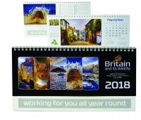 BRITAIN and its WILDLIFE DESK CALENDAR (280 x 155mm)