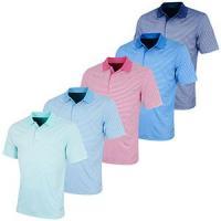 Greg Norman Performance Bar Stripe Polo Shirt