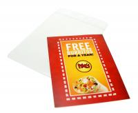 """2 3/4""""x3 3/4"""" Pouch Insert Cards (Style 333)"""