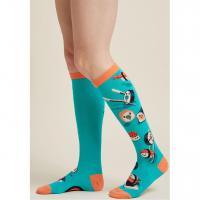 High quality nylon cotton blend knee socks - Ocean Import