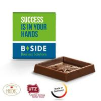 Square chocolate bar white