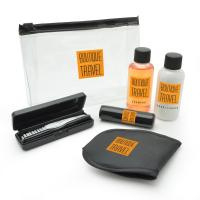 Black Travel Set in a PVC Zippered Bag