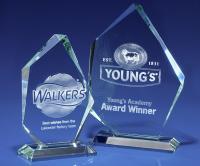 Crystal Glass Arctic Jade Award or Trophy