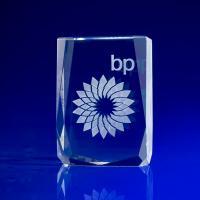 Crystal Glass Chamonix Award or Trophy