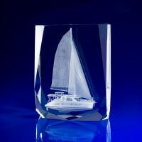 Crystal Glass Chamonix Paperweight