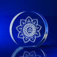 Crystal Glass Disc Award or Trophy