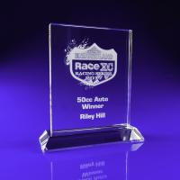 Crystal Glass Ice Clear Award or Trophy