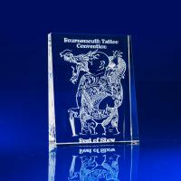 Crystal Glass Tapered Portrait Paperweight