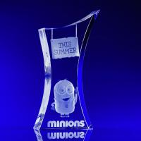 Crystal Glass Trophy Award