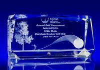 Crystal Glass Roma Award, Trophy or Paperweight