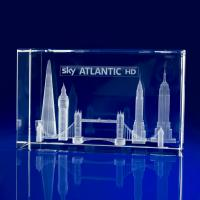 Crystal Glass American Themed Paperweight or Award