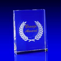 Crystal Glass Bronze Paperweight or Award