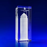 Crystal Glass Building Paperweight or Award