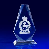 Crystal Glass Crest Paperweight or Award