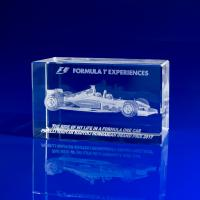 Crystal Glass F1 Formula One Paperweight or Award