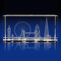 Crystal Glass London Skyline Paperweight or Award