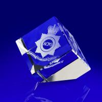 Crystal Glass Emergency Services Paperweight or Award