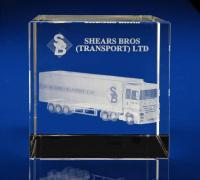 Crystal Glass Freight Paperweight or Award