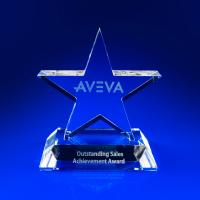 Crystal Glass Sales Paperweight or Award