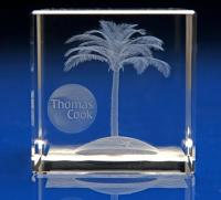 Crystal Glass Travel and Tourism Paperweight or Award