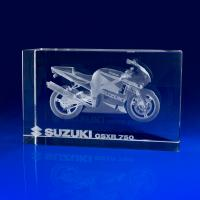 Crystal Glass Transport Paperweight or Award