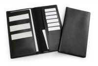 Black Travel Wallet in Leather Look Belluno PU.
