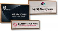 REAL WOOD FRAMED NAME BADGES E99707