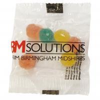 Fruit pastilles or jelly bean bag, 10g