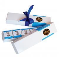 Chocolate box with ribbon