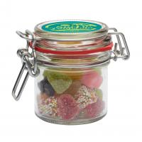 255ml Glass jar with choice of base category sweets