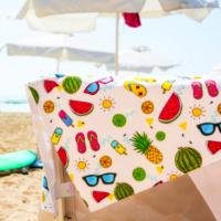 FULL COLOUR, DYE SUBLIMATION PRINTED BEACH TOWEL