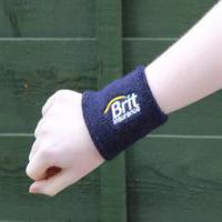 Embroidered terry towelling wristband