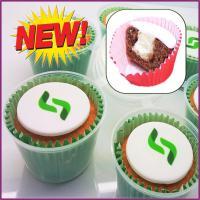Individual cupcake pots - Edible Logo - British Made