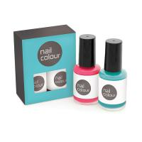 2pc Nail Polish Set in a Printed Box - British Made