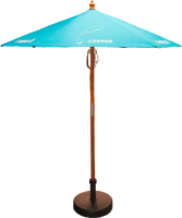 2m Wooden Parasol - British Made