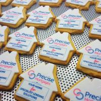 BISCUITS - SHAPED BRANDED BISCUIT - EDIBLE LOGO