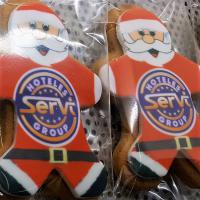 CHRISTMAS - SANTA BISCUITS - EDIBLE LOGO