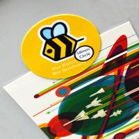58mm Circle flexible fridge magnet - British Made